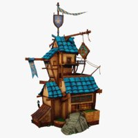 3D cartoon tavern