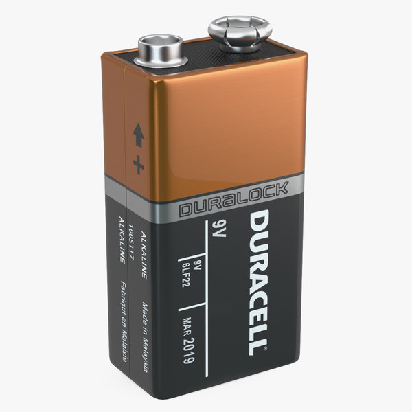 nine-volt duracell battery cell 3D
