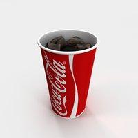 coca cola paper soda 3D model