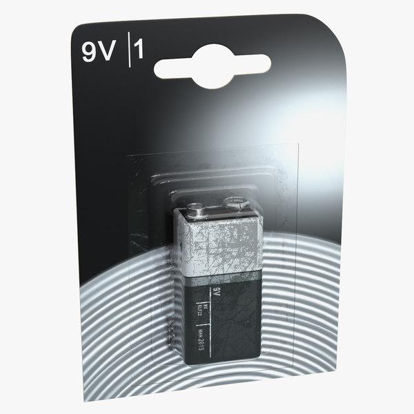 9-volt battery pack 3D model
