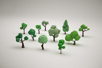 Low Poly Forest Trees Pack