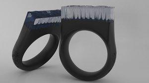 3D model epoxy resin ring -