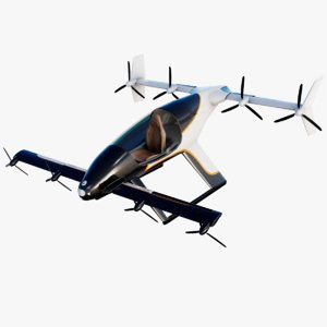 flying taxi airbus vahana 3D model