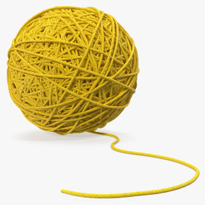 3D yellow thread ball