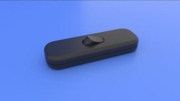 electric lamp button 3D model