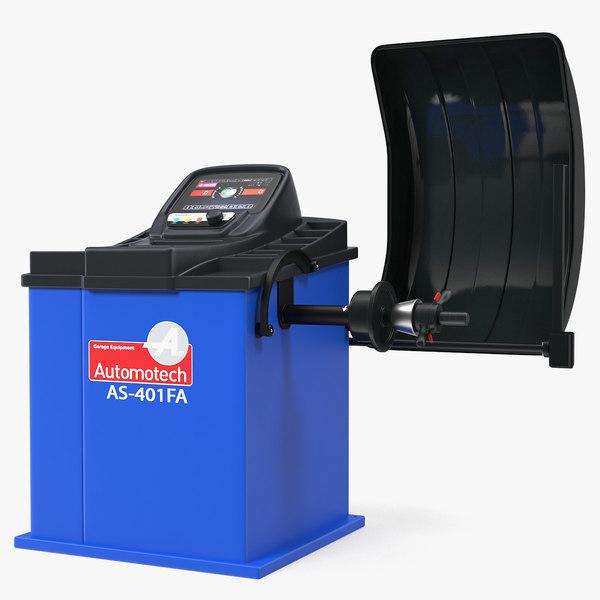3D model automatic wheel balancer automotech