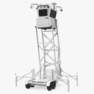 mobile surveillance tower 3D