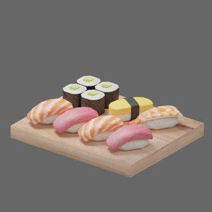 3D model food sushi