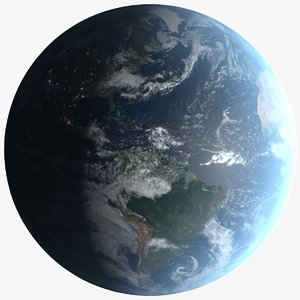 3D 32k photorealistic planet earth model
