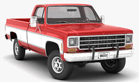generic 4wd pickup truck 3D model