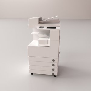 photocopier photo 3D model