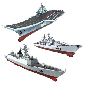 chinese navy destroyers carrier model