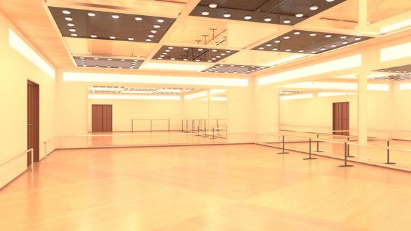choreography room interior 3D model