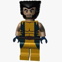 3d model lego wolverine