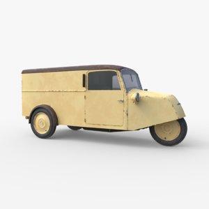 3D borgward goliath f400 minivan