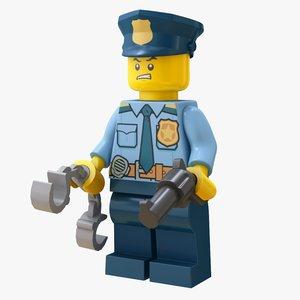 3D lego cops model