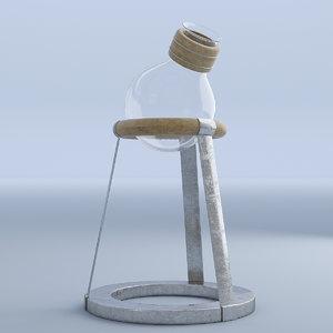 3D ewer glass model