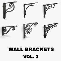 wall brackets vol 3 3D model