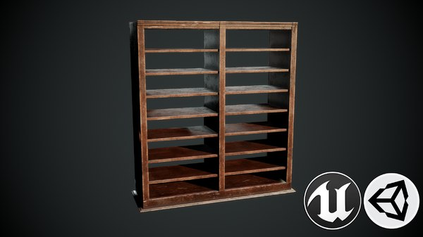 3D shelf pbr model