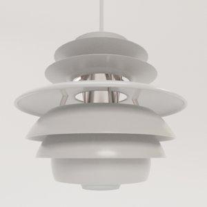 3D stylish pendant lamp louis poulsen