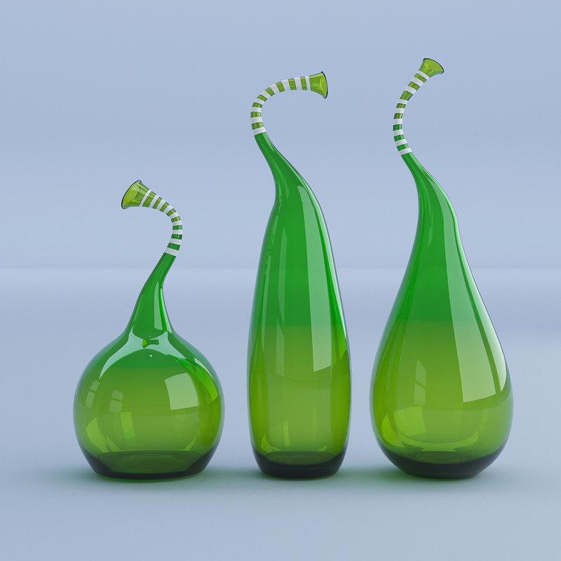 3D glass vases model