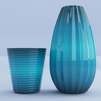 glass vases 3D model