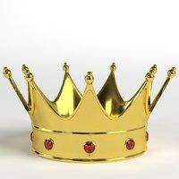 3D gold crown gems 2 model