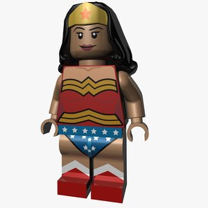 3d model lego wonder woman