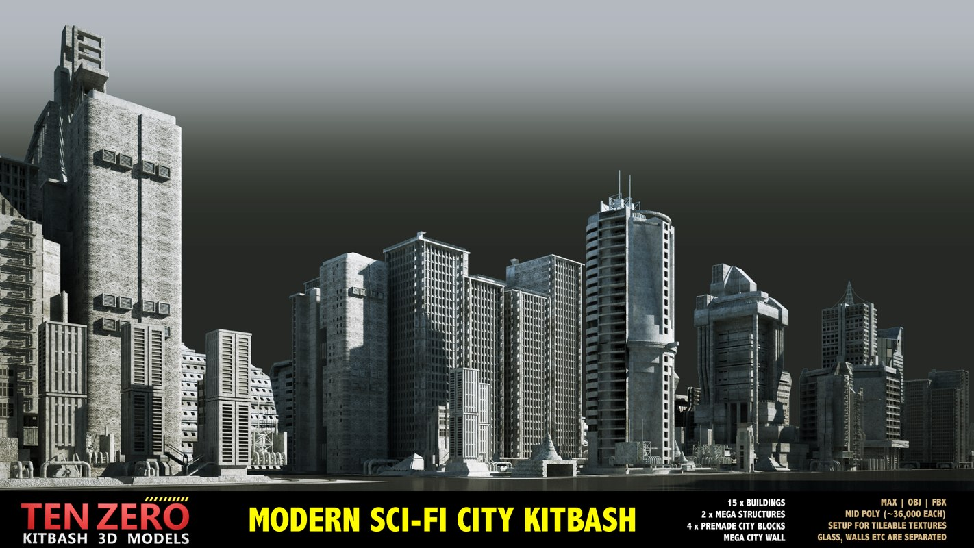 MODERN SCI-FI BUILDINGS KITBASH