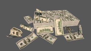 money pack 3D model