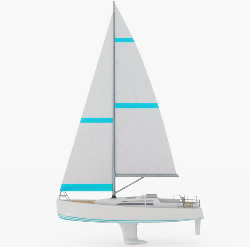 sailboat boat sail 3D