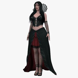 gothic maiden model