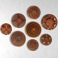 set african baskets wall 3D