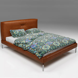 bed leather ethnic 3D model