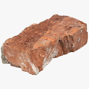 broken brick 02 3D model