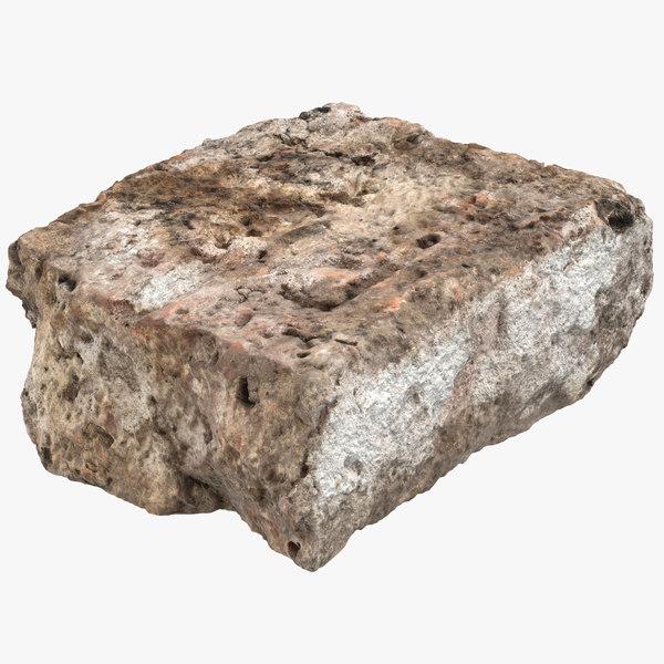 3D broken brick 05 model