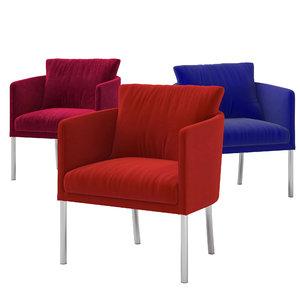 3D model cafe soft armchair