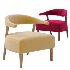 3D model munna femina armchair