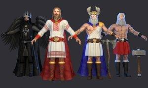 3D model slavic gods