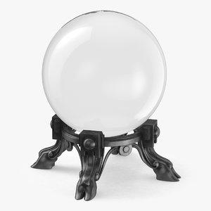 3D rystal ball model