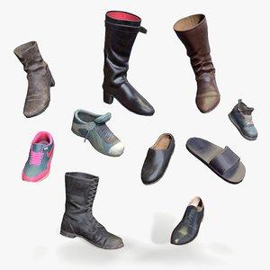 3D shoes boots model