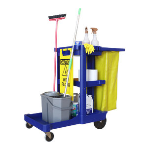 janitorial cart cleaning 3D model