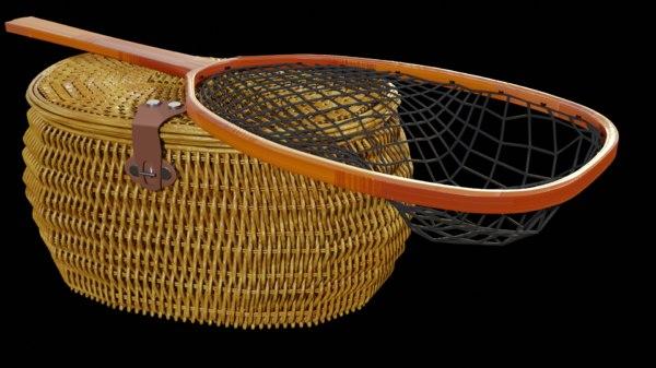3D fish creel net