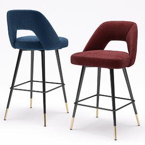 eichholtz bar stool avorio 3D
