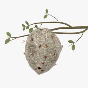 3D model hornet nest