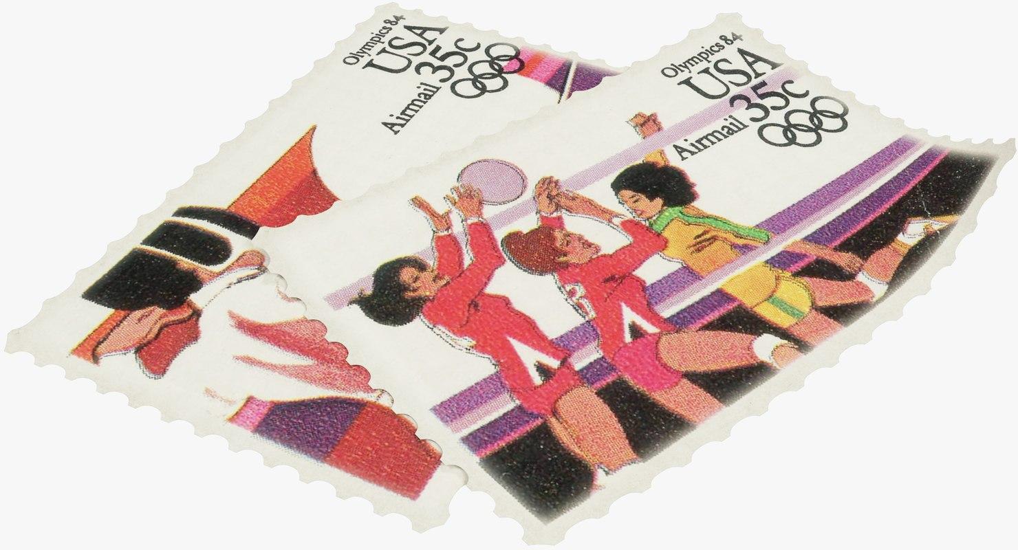 3D postage stamps model