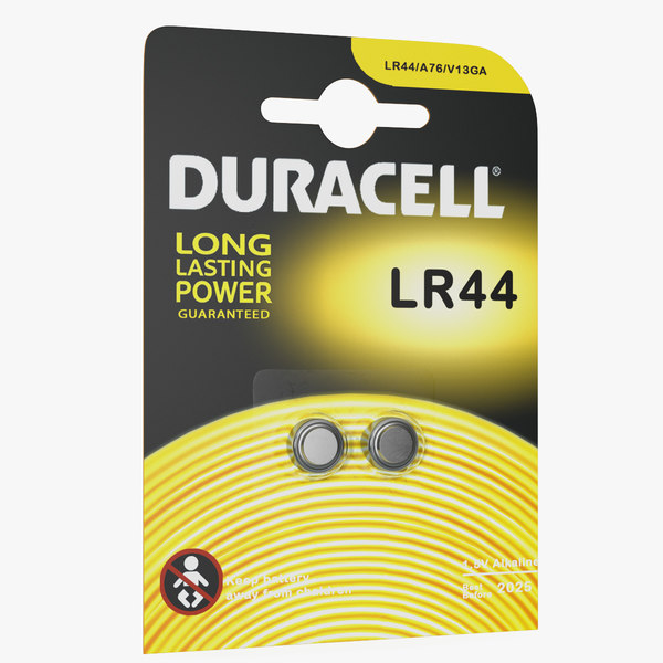 3D package lr44 duracell batteries