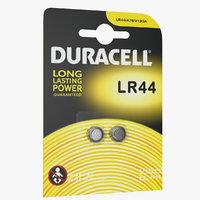 3D package lr44 duracell batteries