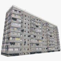 soviet building 3D model