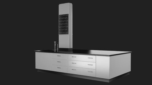 laboratory desk 3D model